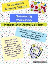 Numeracy Night for P1 and P2 Parents